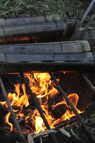 焚火料理 マスストーブ 自然栽培 農業体験 体験農場 野菜作り教室