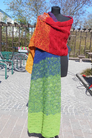 "Strickstola, ""Maya"" 3fach Farbverlaufsgarn, 350g"