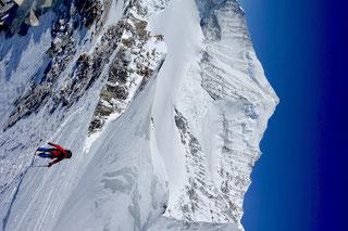 Skitour, Skihochtour, Turtmanntal, Brunegghorn, Turtmannhütte, Brunegg Gletscher, Weisshorn, Weishorn Nordostwand, Weisshorn Nordgrat