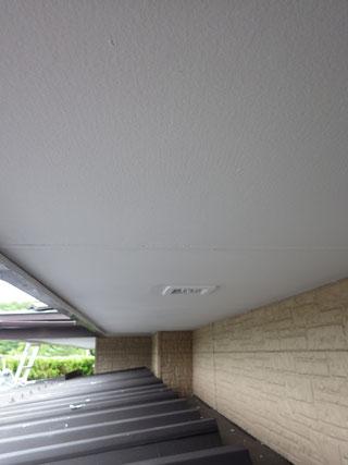 軒天井塗装後