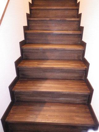 階段着色後