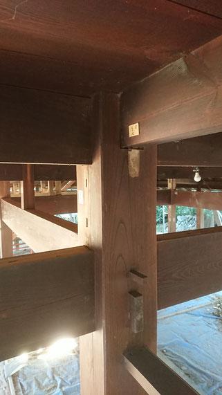 一階大黒柱廻りの力強い構造