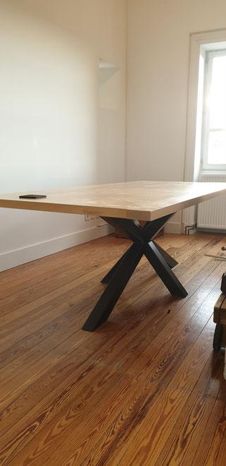 bureau tendance bois et métal sur mesure made in France