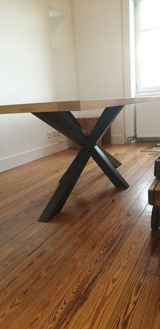 pieds métalliques sur mesure made in France