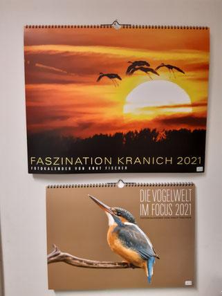 """Kalender """"Faszination Kranich"""" 16,00 € und """"Die Vogelwelt im Focus"""" 14,00 €"""