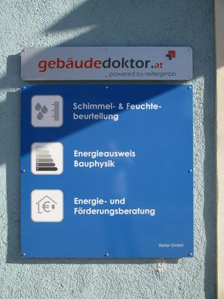 Reiter GmbH - gebäudedoktor.at, Firmenschild Tätigkeitsbereiche