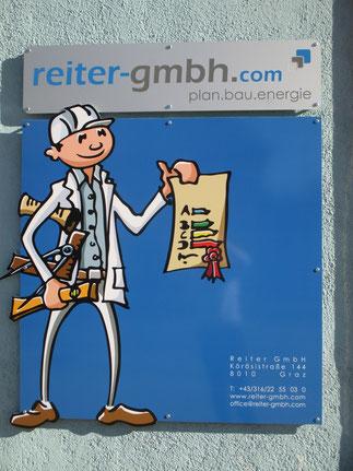 Reiter GmbH - gebäudedoktor.at, Firmenschild