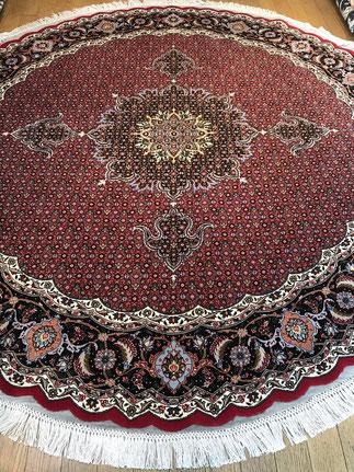 TABRIZ wool&silk 円形 約200cm PIROUZIYAN工房