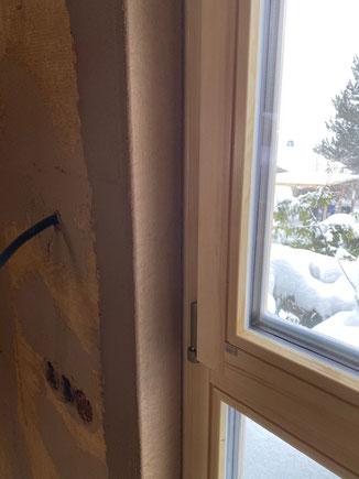 Fensterleibungen mit runder Kante
