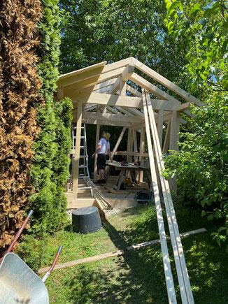 Bau dir dein individuelles Gartenhaus ! Fachwerk Holzkonstruktion auch als Bausatz lieferbar.