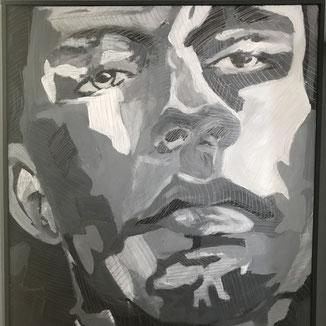 Kunstwerk Portraitmalerei auf Canvas von Philipp Brunschwiler