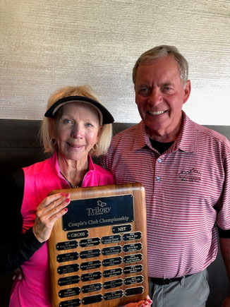 2019 Couples Championship Net Score Winners Sue and Tom Sweet