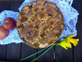 Apfel-Pudding-Kuchen - süße Sünde für schwangere Vegetarier