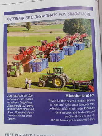 Lohnunternehmen Guggisberg Zimmerwald Betrieb Kartoffeln Tractor Pulling