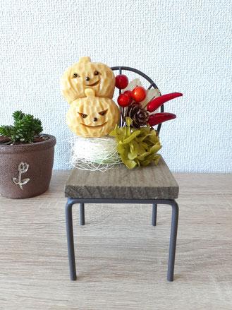 ソープカービング ハロウィン アレンジメント かぼちゃ