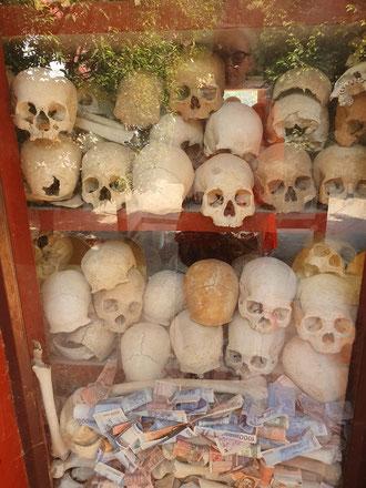 Totenschrein, Killing Fields, SiemRiep Kambodscha