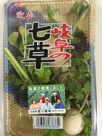 スーパーで発見した「岐阜の七草」セット。