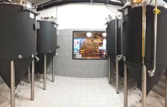 Cuves de fermentation isolées brasserie Archimalt proche de Chambéry