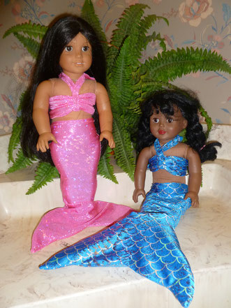American girl doll mermaid tail