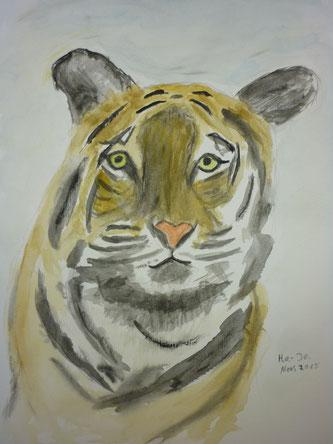 sehr zahmer Tiger - Nov. 2015