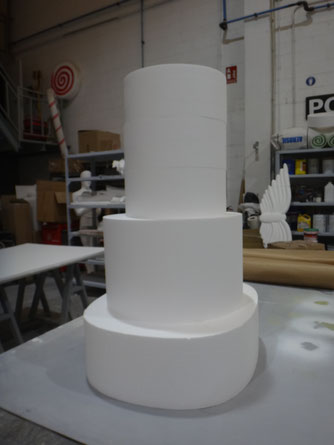 Bases de Tarta escalonadas, se fabrica cualquier tamaño y forma.