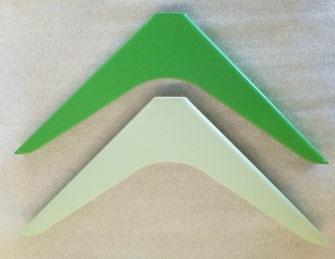 équerre pour étagère coloris vert satiné