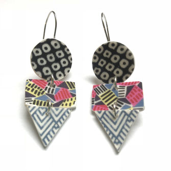 geometric party earrings south africa fabric