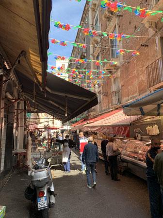 Italien, Sizilien, Gassen, Markt, Catania, Sehenswürdigkeit