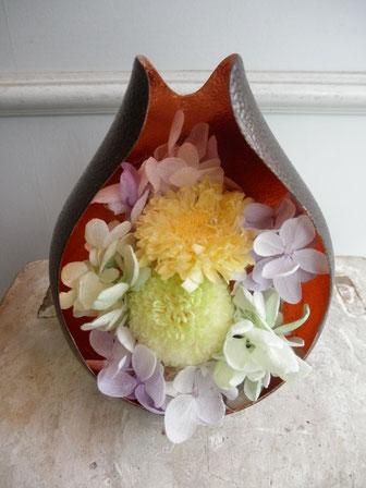 プリザーブドフラワーを使った仏壇花