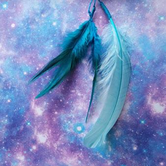 """Bâton de prière """"Les racines du Ciel"""" - détail 2"""