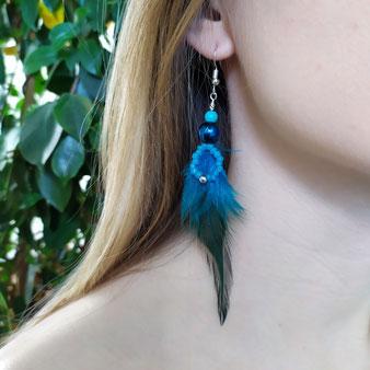 """Boucles d'oreilles chamanique """"Alliance avec les oiseaux"""""""