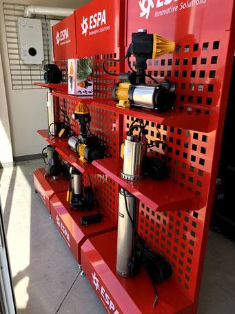 Venta y reparación de bombas de agua espa