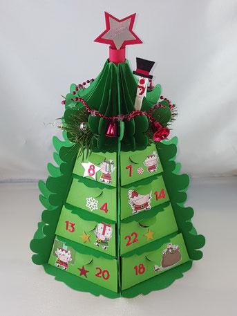 #Stempelliese.com #Adventskalder #Kalender #Weihnachten #stampinup #silhouette