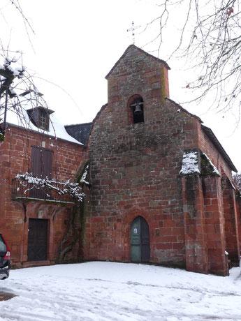 La  Chapelle des Pènitents de Collonges-la-Rouge sur le Chemin vers Compostelle, La Voie de Rocamadour en Limousin et Haut-Quercy