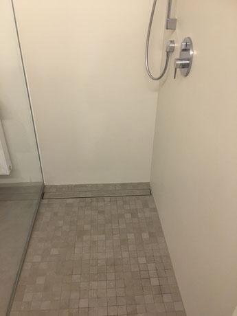 Mosaik für barrierefreie Dusche und fugenlose Wände