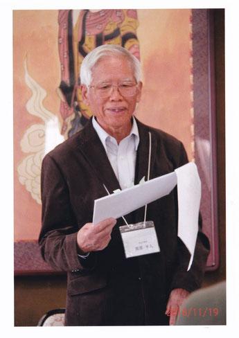 講演中の渡部副会長     写真提供 髙村昌男氏