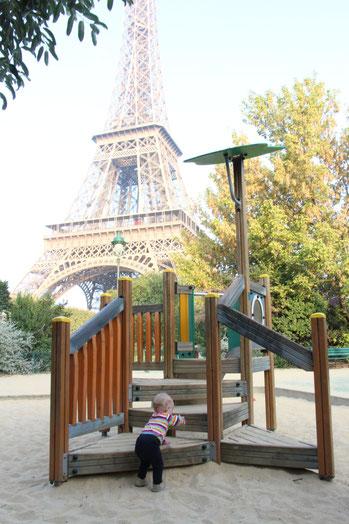 Paris Playground Eiffel Tower Champ de Mars