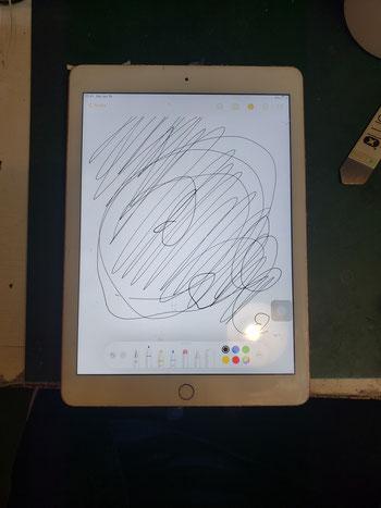 iPadメモ機能のフリーハンド入力