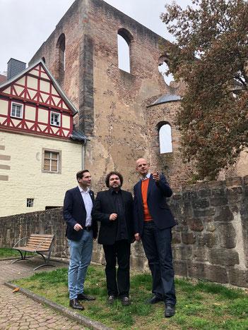 Andeas Rey, Joern Hinkel und MdB Michael Brand