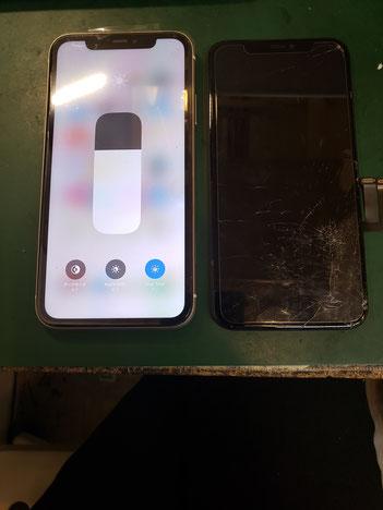 iPhone11画面修理完了