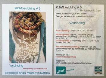 KUNsTbestUiving # 5   :  Samenwerkingsverband met Deogracias Kihalu , tentoonstelling 26 januari 2020 , Zinniastraat 9     9000 Gent