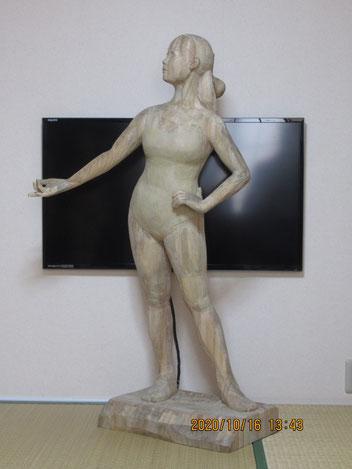 日本彫刻会展(日彫展)に出品した作品「17歳」
