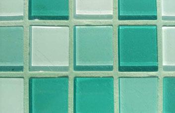 Hellgrüner Mosaikfugenmoertel für Wand- und Bodenmosaikfliesen für Innen- und Außenbereich geeignet