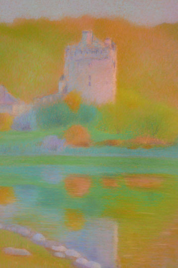 A castle at the water 52.5x42.5cm