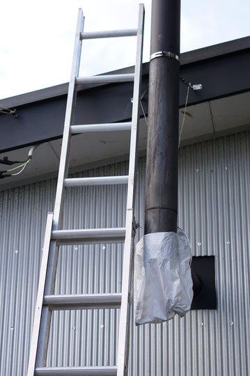 陶芸家 ブログ 茨城県笠間市 陶器 ストーブ MOKI製作所 MD-80Ⅲ 暖かい工房 煙突掃除