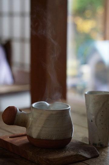 陶芸家 ブログ 茨城県笠間市 女性陶芸家 日常生活 土鍋 温かい食事 白湯 冷え取り