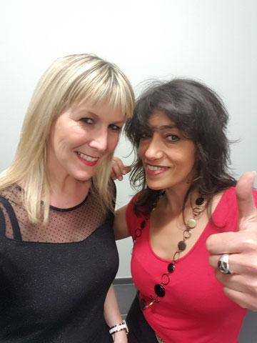 avec Patsy (Liverpool) Février  2016  à Samer