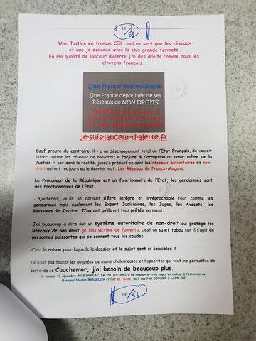 JE SUIS UN LANCEUR D'ARLERTE : PARJURE & CORRUPTION À TRÈS GRANDE ÉCHELLE AU CŒUR MÊME DE LA JUSTICE  voir site www.maisonnonconforme.fr de Patrick DEREUDRE
