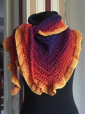 Tuch aus Farbverlaufswolle