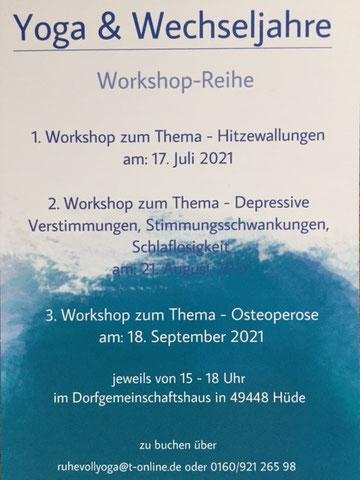 Workshop Yoga & Wechseljahre im Dorfhaus Hüde
